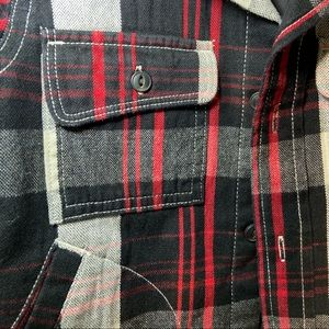 BabyGap Jackets & Coats - Baby Gap Red/black flannel shirt jacket size 2 ya